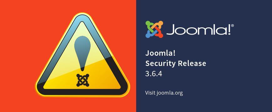 Joomla 3.6.4 security update